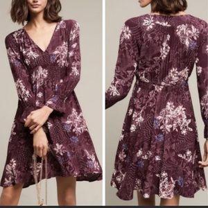 Anthropologie Maeve Purple Monaco Dress Size Small